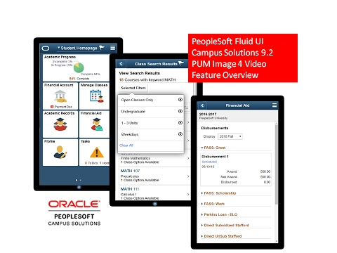 PeopleSoft Fluid UI Campus Solutions 9.2 PUM Image 4 Video Feature Overview