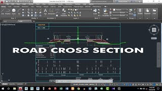 How to Draw Road Cross Section