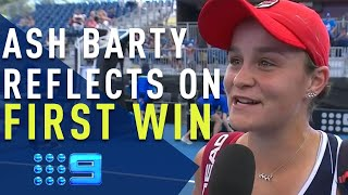 Ash Barty reflects on first win of Australian summer | Wide World of Sports