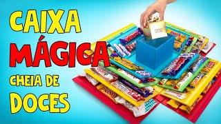 CAIXA MÁGICA CHEIA DE DOCES 🎁 🍭🍫🍬