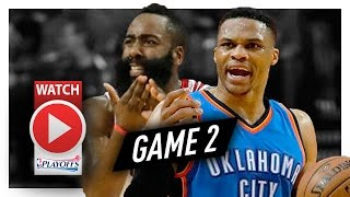 James Harden vs Russell Westbrook Game 2 MVP Duel Highlights (2017 Playoffs) Thunder vs Rockets