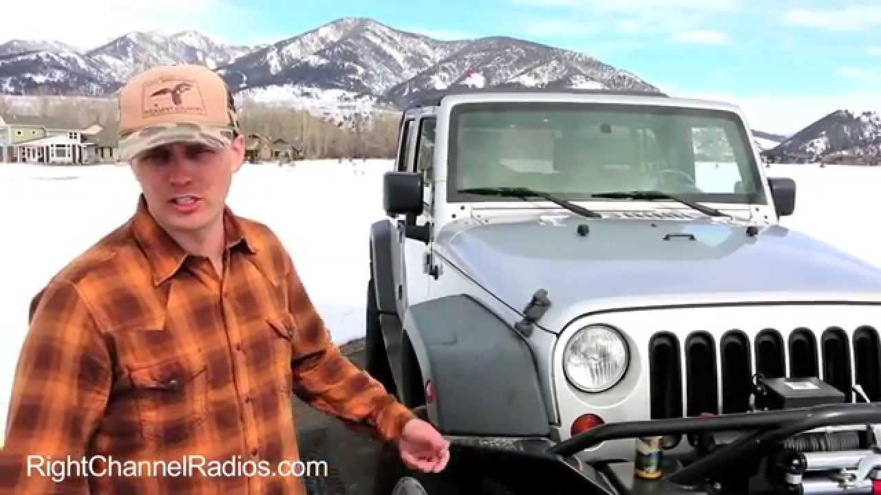 Cb Radio Kit For Jk Jeep Wrangler Youtube