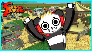 BUILDING MY OWN THEME PARK ! Roblox Theme Park Tycoon 2 Let's Play with Combo Panda