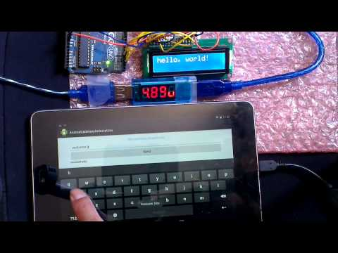 Send Data From Android To Arduino Uno, In USB Host Mode