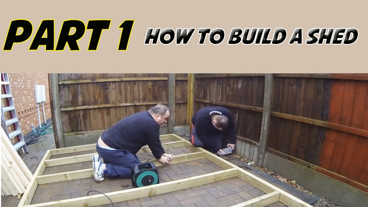 How To Build A Shed Part 1  YouTube