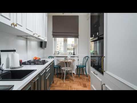 Готовая узкая кухня: дизайн и планировка. Каудаль.