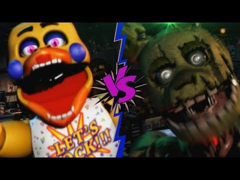 SPRINGTRAP VS ROCKSTAR CHICA - La Liga de FNAF | FIVE NIGHTS AT FREDDY † S ULTIMATE CUSTOM NIGHT (J1)