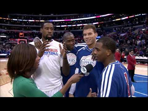 Clippers Videobomb Chris Paul's post-game interview!