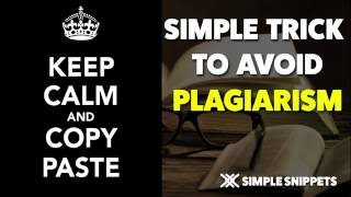 Simple Trick to Check and Avoid Plagiarism during Assignment Submissions thumbnail