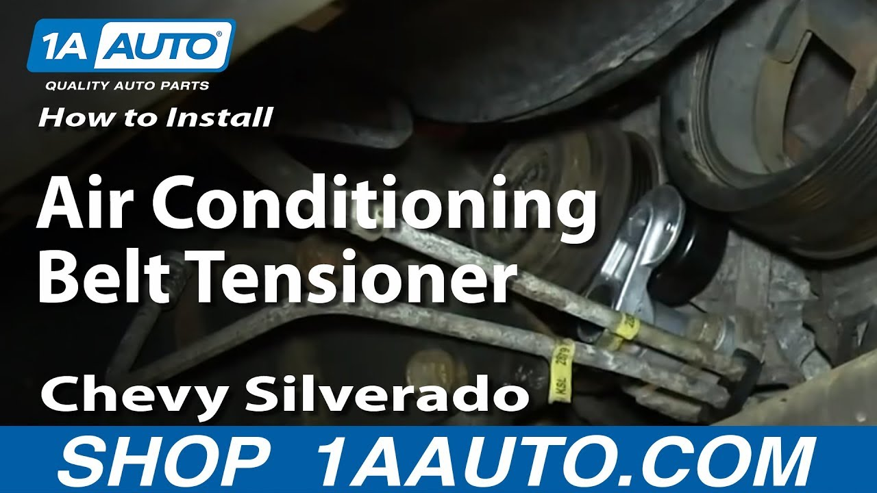 How To Install Replace Air Conditioning Belt Tensioner