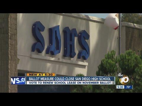 Ballot measure could close San Diego High School