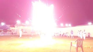 شاهد خطورة الالعاب النارية انفجر عليهم الصاروخ