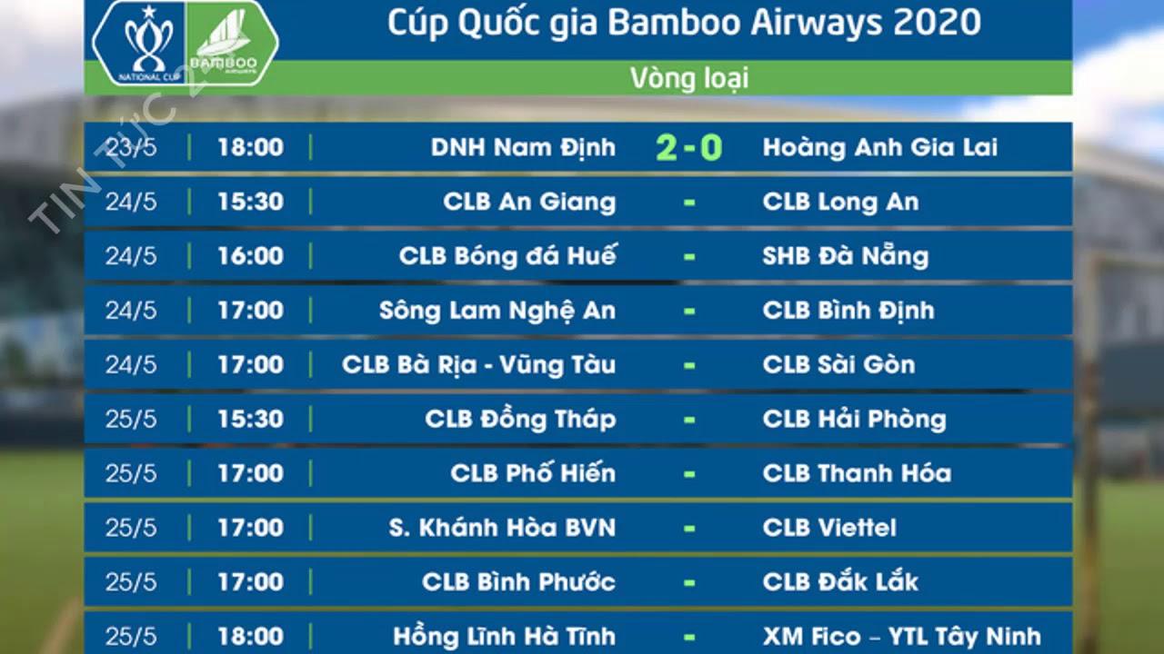Lịch thi đấu bóng đá cúp Quốc gia Việt Nam 2020