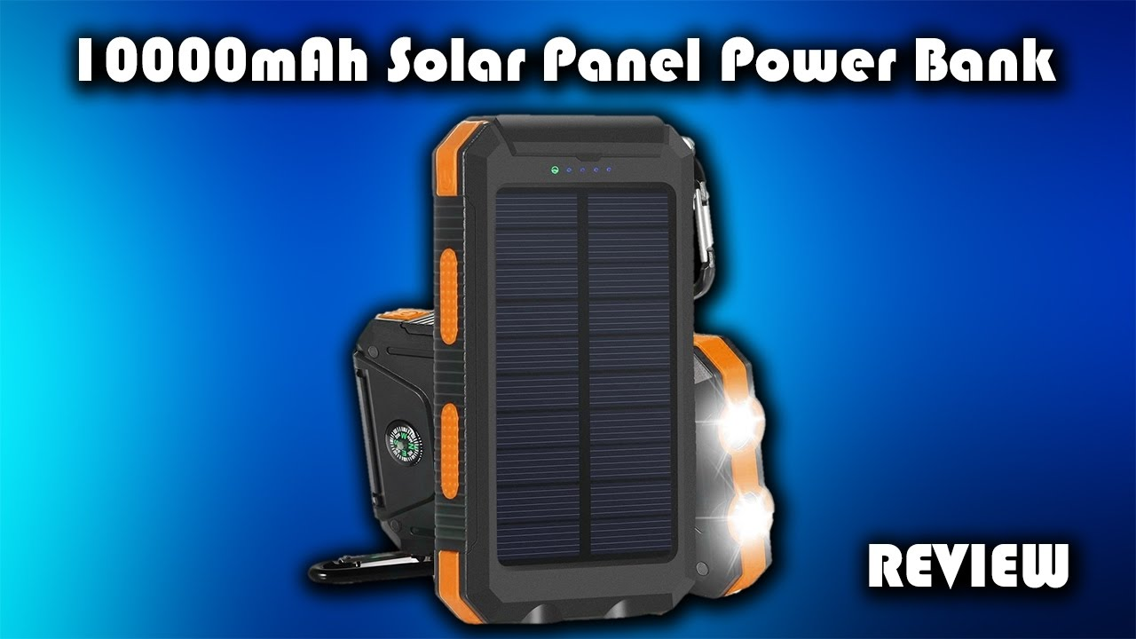 10000mAh Solar Panel Power Bank Review
