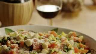 Pasta With Scallops Recipe - How To Make Pasta With Scallops, Zucchini, And Tomatoes