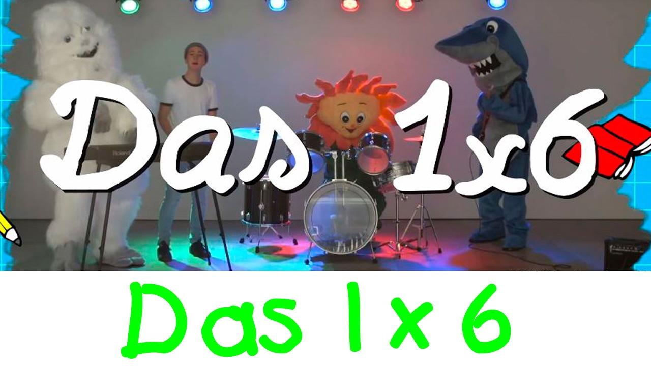 Download Das 1x6 Lied - Mathe Lernlieder    Kinderlieder