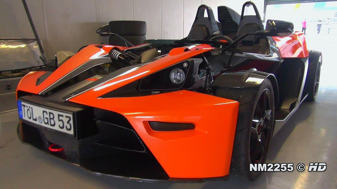 KTM X Bow with Sport Exhaust Sound Starts and Fly Bys on the Track