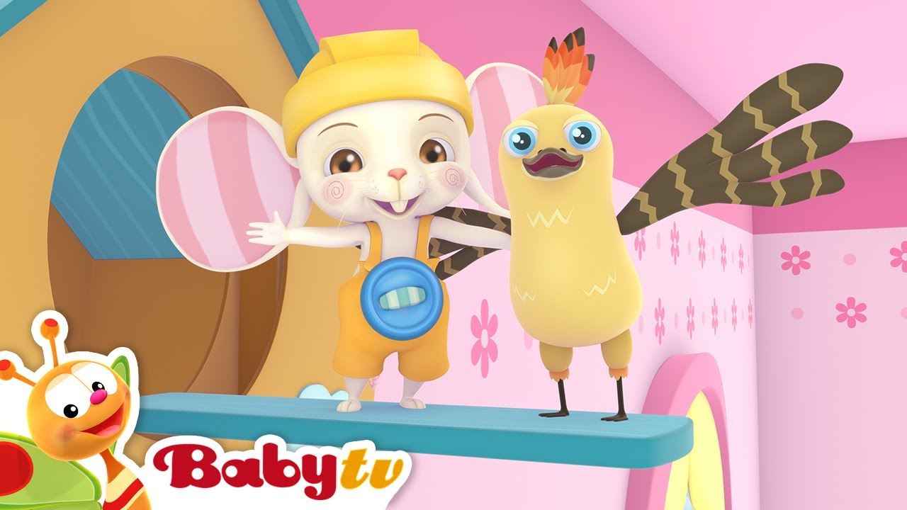 Hickory Dickory Dock 🐭🕰️ (Remastered with Lyrics)   Nursery Rhymes & Songs for Kids   BabyTV