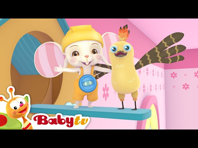 Hickory Dickory Dock 🐭🕰️ (Remastered with Lyrics) | Nursery Rhymes & Songs for Kids | BabyTV