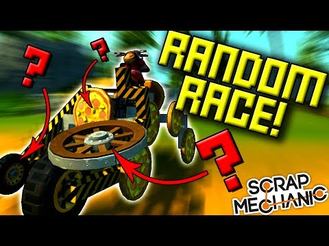 EVERYTHING IS RANDOM...RACE! - Scrap Mechanic Multiplayer Monday Ep51