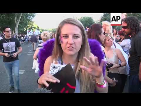 Thousands take part in gay pride parade in Madrid