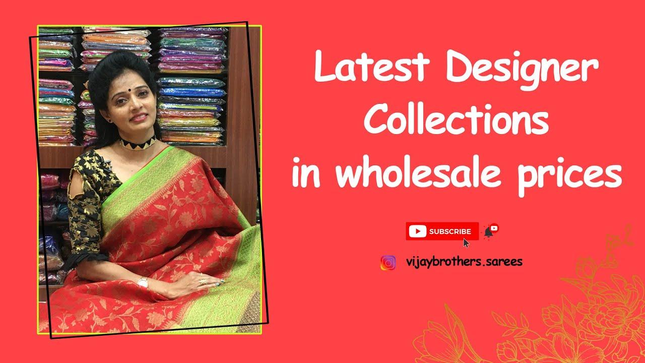 Latest designer collection in wholesale price  Vijaybrothers sareeshowroom  70933 70882,84640 27097.