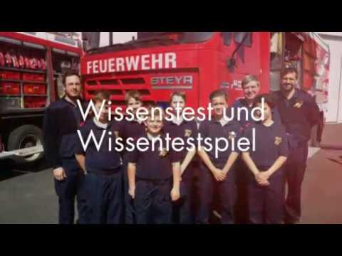 Wissenstest/spiel der Feuerwehrjugend Gerasdorf (Bezirk Korneuburg) in der Feuerwehr Korneuburg