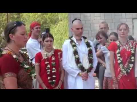 Vedic marriage ceremony in Novosibirsk, RUSSIA