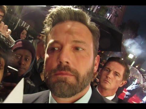 """Sad"" Ben Affleck at The Accountant Premiere London still cute"