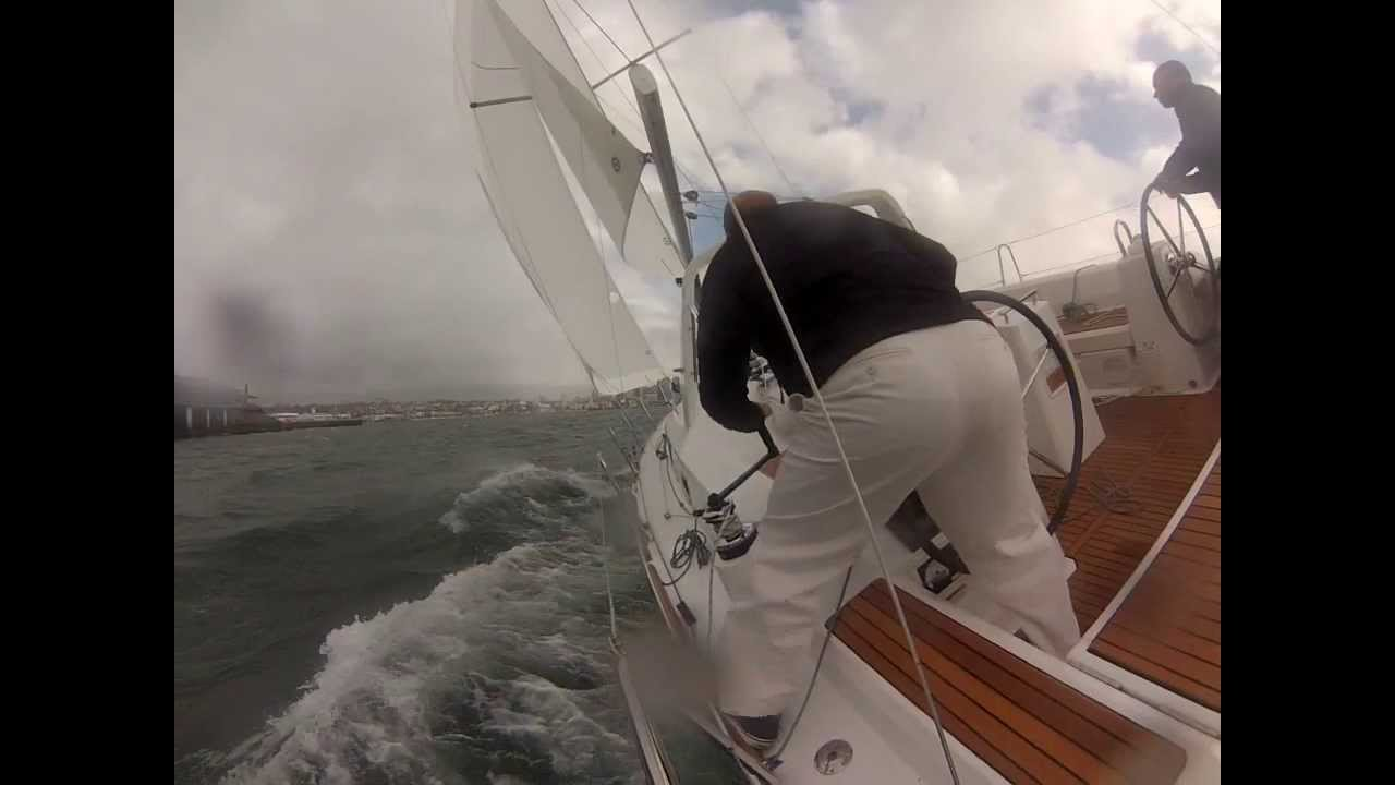 Beneteau Oceanis 38 Sailing in 25 knots
