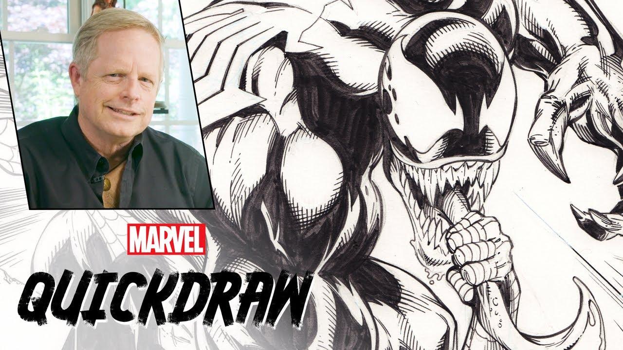 Mark Bagley draws Spider-Man & Venom | Marvel Quickdraw