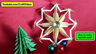 Paper Snowflake | How to make SNOWFLAKES out of paper step by step