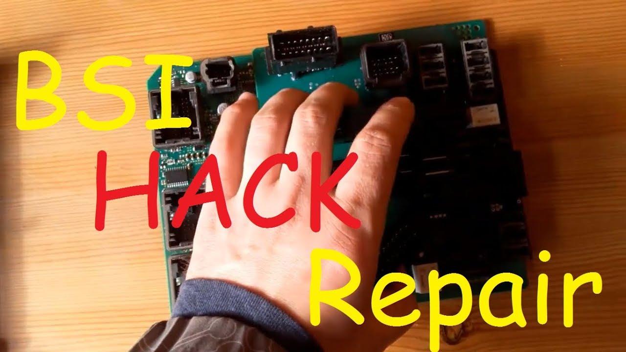 Peugeot Citroen BSI Hack  BSI programming  Repairs BSI