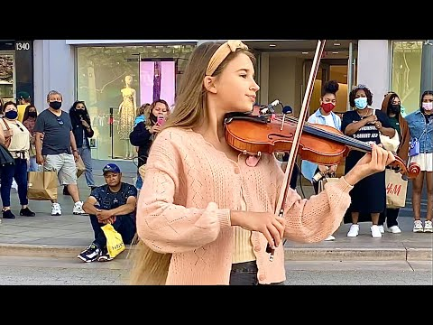 How BEAUTIFUL is she playing violin   7 years - Lukas Graham   Cover by Karolina Protsenko