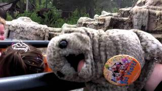 Uncle Teddy puppet vomits on Walt Disney World Magic Kingdom Big Thunder Mountain Railroad