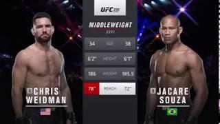 Chris Weidman vs Jacare Souza Full Fight UFC 230