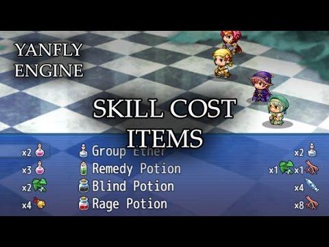 YEP.43 - Skill Cost Items - RPG Maker MV - YouTube