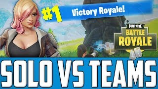 Fortnite Battle Royale - How To Solo Clutch Vs Quad Teams - (A Noobs Way)