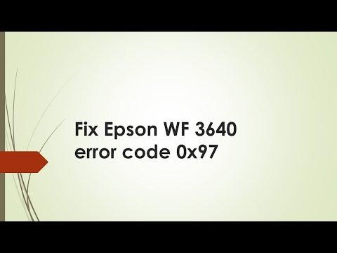 Epson WF 3640 error code 0x97