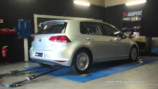 VW Golf 7 1.6 tdi 110cv Reprogrammation Moteur @ 148cv Digiservices Paris 77 Dyno