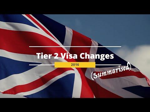 UK Tier 2 Visa Changes