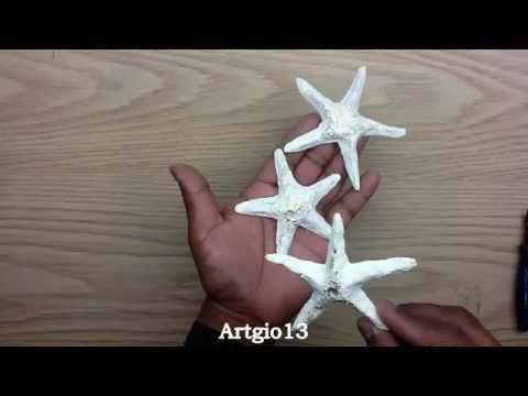 Estrellas de mar (Reciclando Periodico)/ Starfish ( Recycling Newspaper )