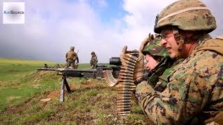 U.S. Marines & Romanian Soldiers Live-Fire Exercises with Guns and Rockets