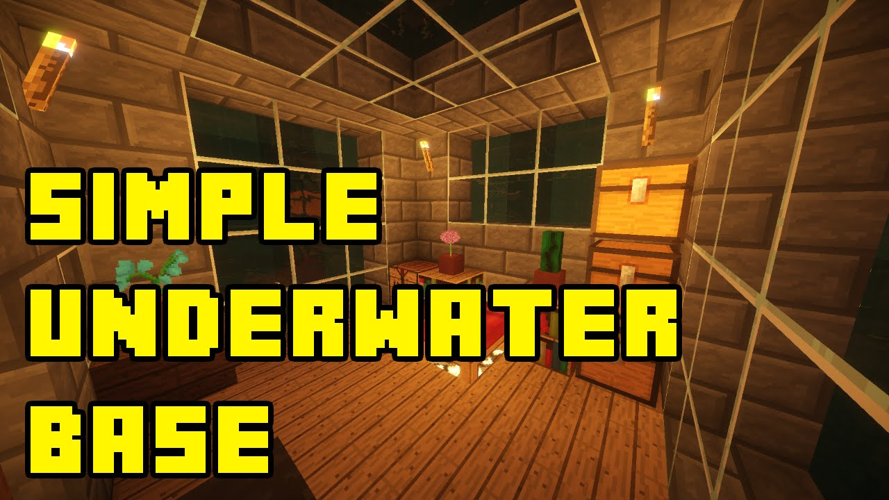 Minecraft Easy Underwater House Tutorial How To Build Youtube