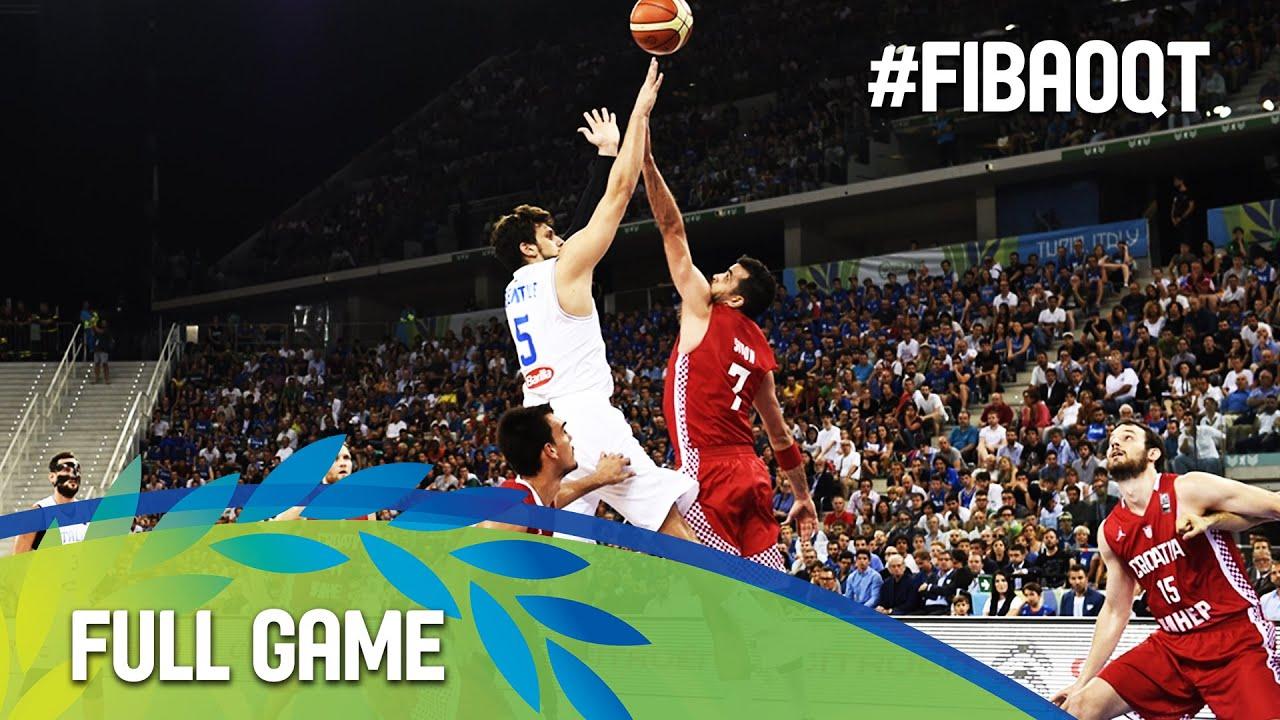 Italy v Croatia - Full Game - 2016 FIBA Olympic Qualifying Tournament