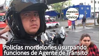 Policías mordelones usurpando funciones de Transito | Ricardo Alemi