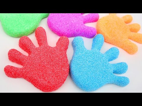 Thumbnail: How To Make Kinetic Foam Fingers Family VS Kinetic Sand VS Play Doh VS Jelly Gummy Nursery Rhymes