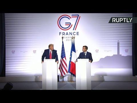 Трамп и Макрон проводят пресс-конференцию по итогам саммита G7 — LIVE