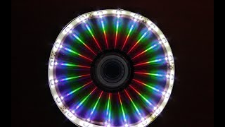 How To Make LED illusion Mirror Using CD at Home