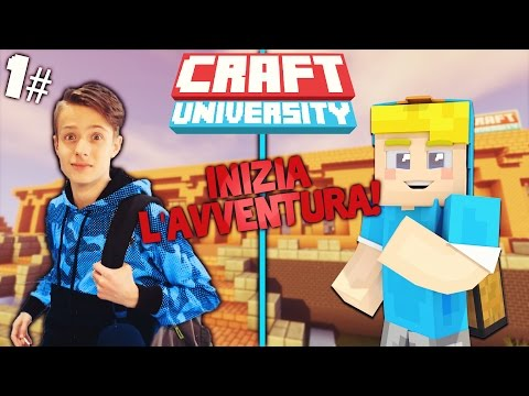 CraftUniversity - VADO ALL'UNIVERSITA' ! - CraftUniversity #1 (Minecraft Roleplay)